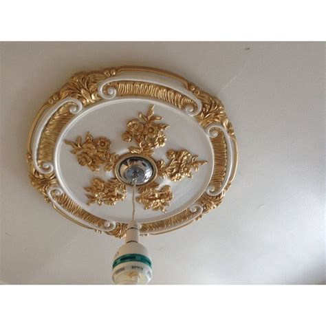 rose gold ceiling fan ceiling rose gold white beautiful ornate home decor 52cm