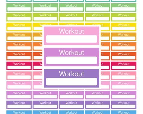 free printable workout planner stickers printable workout stickers workout planner stickers printable