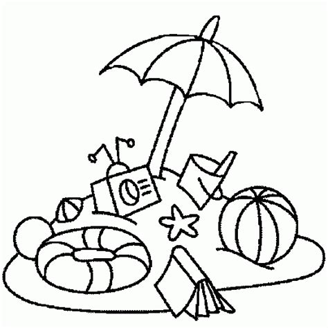 free coloring pages of beach umbrellas