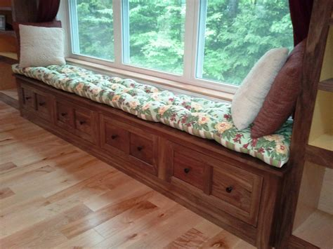 long window bench creative woodworking window seat cushion