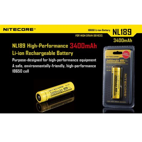 Termurah Nitecore 18650 Rechargeable Li Ion Battery 3400mah 3 7v nitecore 18650 rechargeable li ion battery 3400mah 3 7v nl189 black yellow jakartanotebook