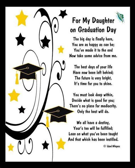 graduation poems versesquotes  cards scrapbooking speeches daughter graduation