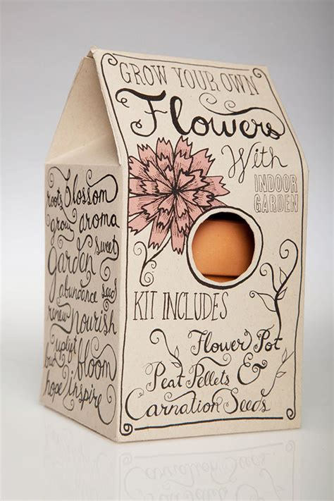 design your own packaging grow your own flowers packaging on behance