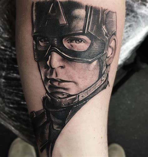 captain america tattoo inkstylemag