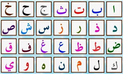 arabo lettere alphabet arabe