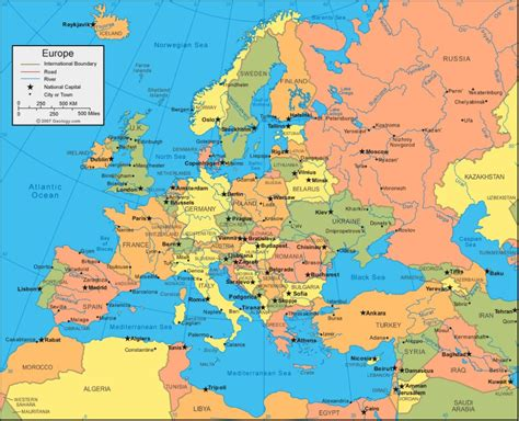 europe map of this is our list of european countries and capitals
