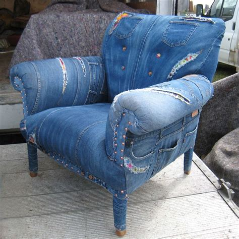 Denim Chairs by I This Chair Upholstered With Blue Denim