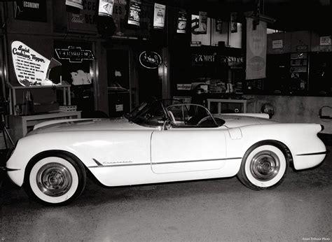 corvette in allen motors showroom ames historical society