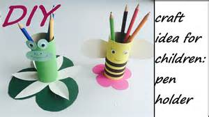 Pencil Stand Craft diy pencil holder easy craft idea for children youtube