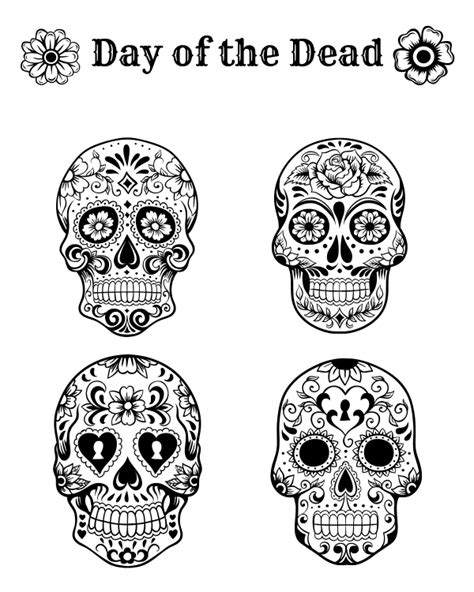 coloring pages for the day of the dead skulls day of the dead skull coloring pages bestofcoloring com