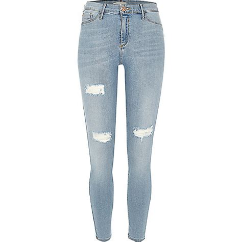 light blue ripped womens light blue wash ripped molly jeggings seasonal offers