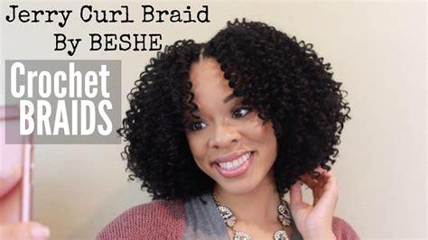 Jerry Curl Braid (By BESHE) CROCHET BRAID TUTORIAL   YouTube