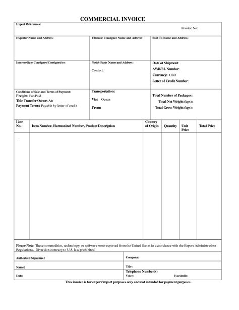 specimen of invoice proforma invoice template sample proforma