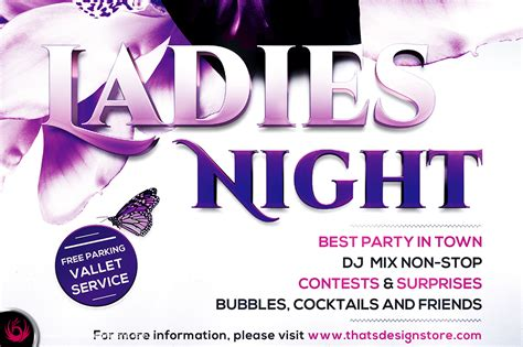 ladies night flyer template v6 flyer templates on