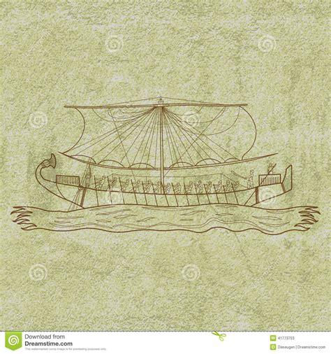 dessin bateau egyptien bateau de l egypte illustration de vecteur illustration