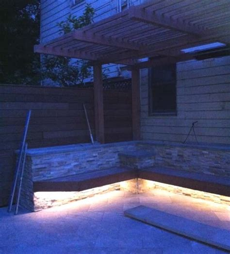 under bench led lighting backyard san francisco victorian