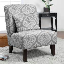 grey ikat accent chair