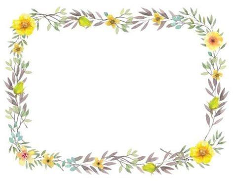 printable flower border