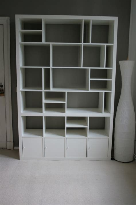 ikea bookshelf hack ikea hack expedit bookcase hallway ideas pinterest