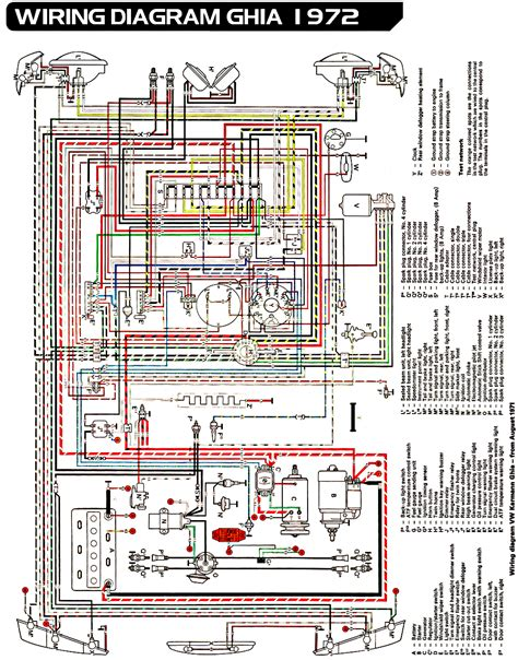 car electrical wiring vw karmann ghia wiring diagram car