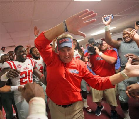 ole miss student section watch hugh freeze dances in locker room after ole miss