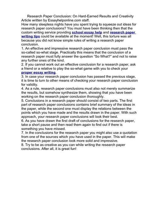does a research paper need a conclusion do research papers need a conclusion 187 writing a essay