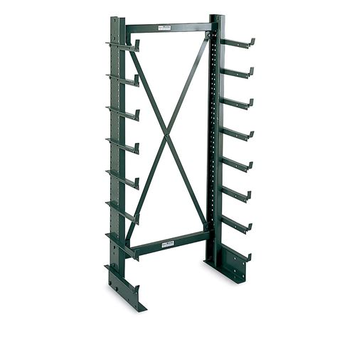 Cantilever Storage Racks by Jarke Mt251cs36 Light Industrial 76 1 4 H Cantilever Rack Single Sided Column Ebay