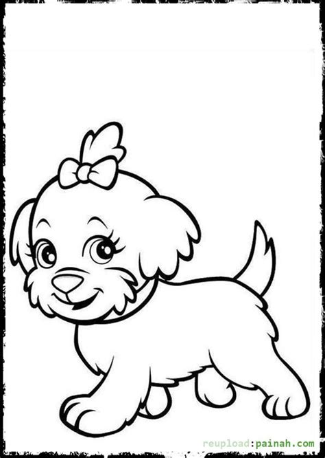 coloring pages of little puppies 90 book cartoon coloring dog kids kite outline page