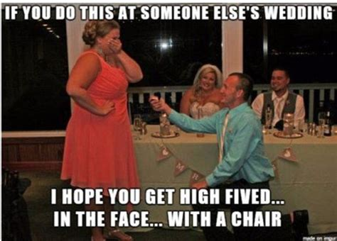 Meme Wedding Proposal - as a wedding guest proposes in front of the newlyweds the