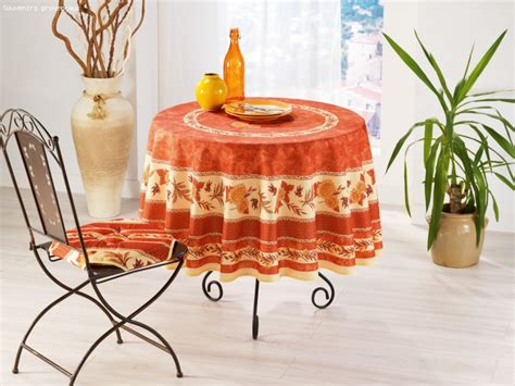 nappe ronde provencale anti tache table de cuisine