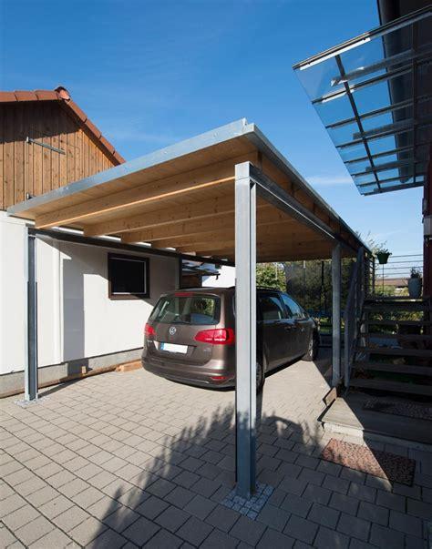 carport holz metall windhof conweiler holz metall carport