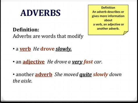 define biography verb adverbs of degree