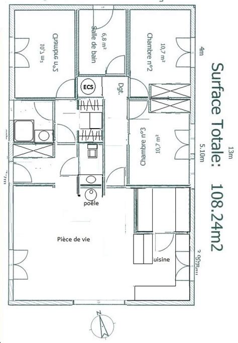 plan maison 100m2 plein pied 4115 25 best ideas about plan de maison 100m2 on
