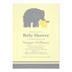 elephant baby shower invitations yellow gray 5 quot x 7 quot invitation card zazzle