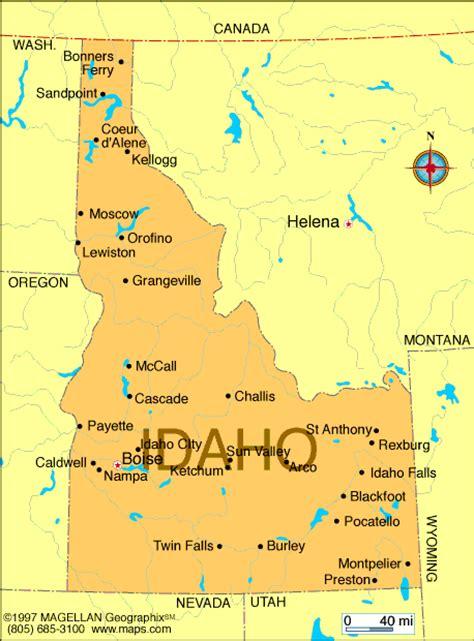 idaho physical map physical map of idaho