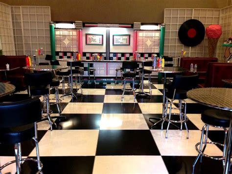 soda shop counter stools lit valance  bar