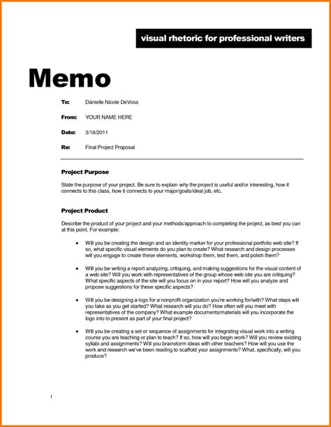 free professional business memo template calendar