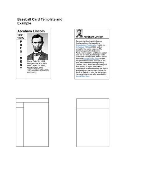 baseball card template front and back baseball card template word 28 images 33 trading card