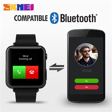 Hp Jam Tangan Sony Smartwatch skmei smart led bluetooth smartwatch for ios and android 1152sm black jakartanotebook