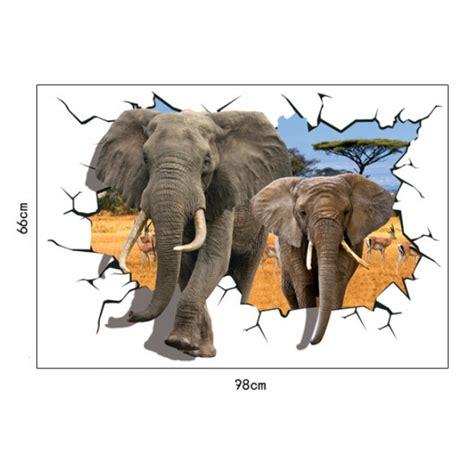 elephant wall sticker 3d elephant wall sticker wall murals wallpaper
