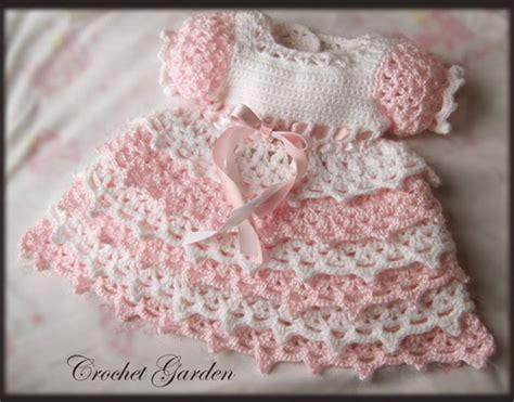 crochet pattern pink girl dress free crochet baby dress pattern