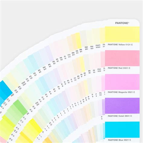 color coated pantone pastels neons coated uncoated guide