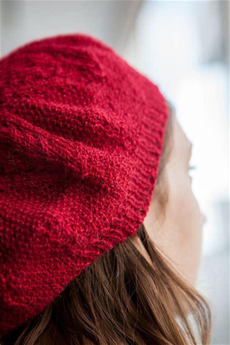 knit picks septafleur beret knitting patterns and crochet patterns