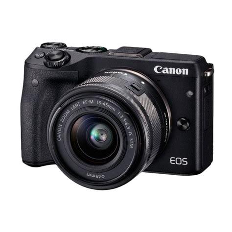 Kamera Canon Mirrorless M3 jual canon m3 with ef m15 45 mm kamera mirrorless black harga kualitas terjamin
