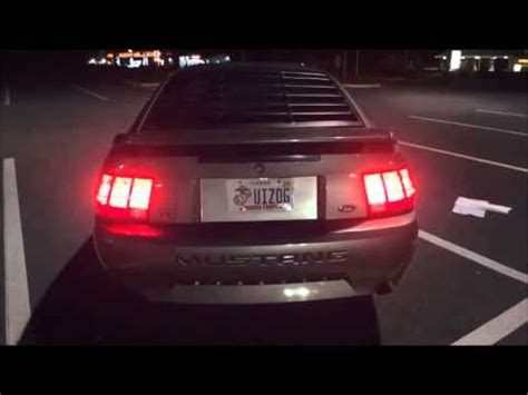 03 mustang sequential tail lights 2001 mustang gt premium sequential tail lights youtube