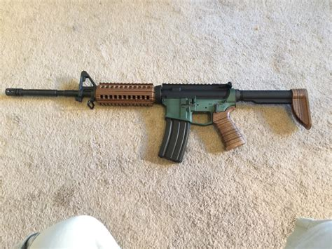 Ar Wood Furniture by 3d Printed Quot Wooden Quot Ar15 Furniture Ar15