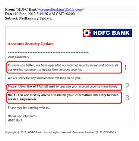 Complaint Letter Against Hdfc Bank Anand S Hdfc Bank Customers Beware Of The Phishing Email
