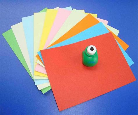 Colour Paper Crafts - sell color paper with craft punch kit shanghai melody