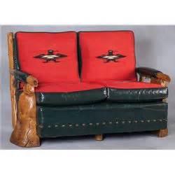 Uptown Furniture by Uptown Furniture Vintage Western Chimayo Thunderbird Settee