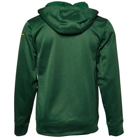 Jaket Hoodie Sweater Zipper Nike lyst nike mens green bay packers shield nailhead fullzip hoodie in green for